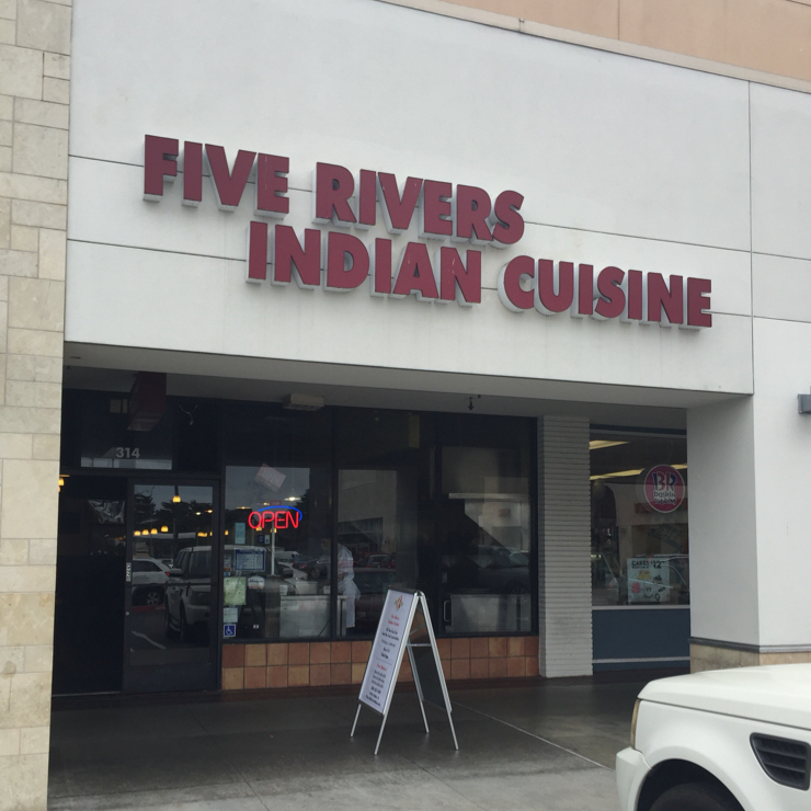 Vegan user review of Five Rivers Indian Cuisine in Daly City.
