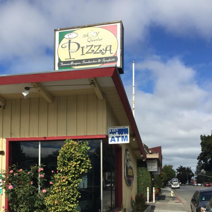 Vegan user review of 5th Quarter Pizza in Redwood City.