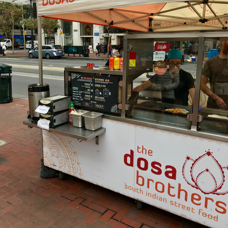 Vegan user review of The Dosa Brothers in San Francisco.