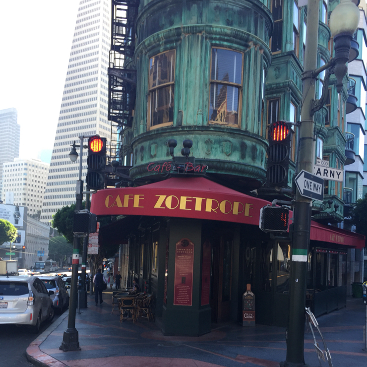Vegan user review of Cafe Zoetrope in San Francisco.