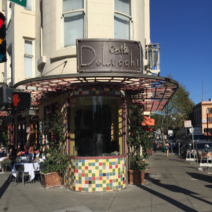 Vegan user review of Caffe DeLucchi in San Francisco.