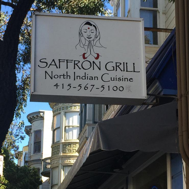Vegan user review of Saffron Grill in San Francisco.