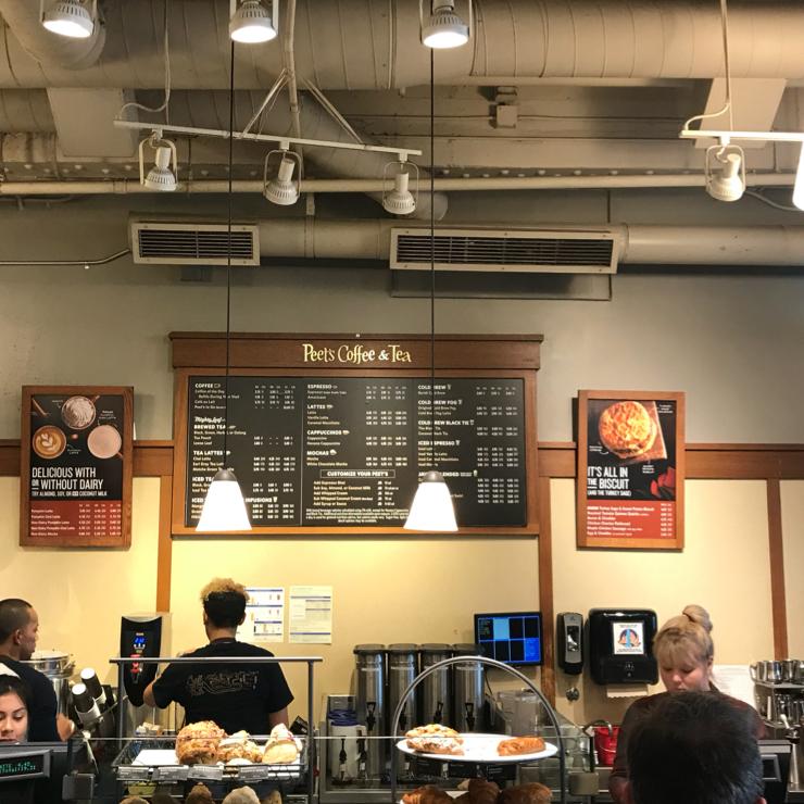 Vegan user review of Peet's Coffee & Tea in San Francisco.