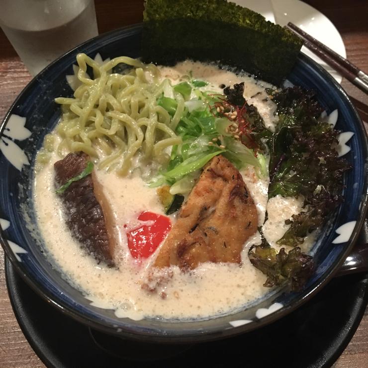 Vegan user review of Hinodeya Ramen Bar in San Francisco. One of my favorite, loved the fried kale.
