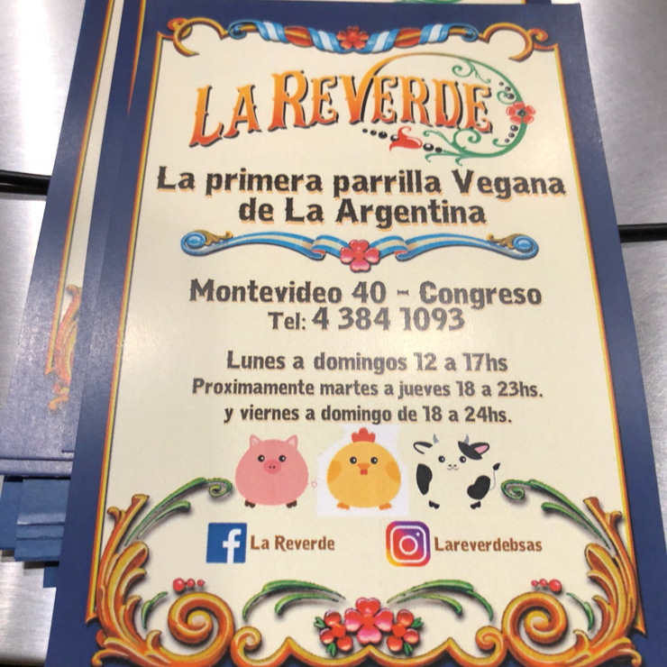 Vegan user review of La Reverde parrillita vegana in Buenos Aires.