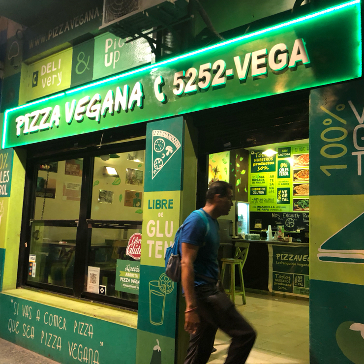 Vegan user review of Pizza Vegana - Fitz Roy in Buenos Aires.