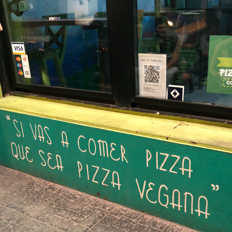 Vegan user review of Pizza Vegana - San Telmo in Buenos Aires.