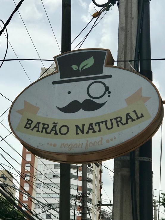 Vegan user review of Barão Natural in São Paulo.