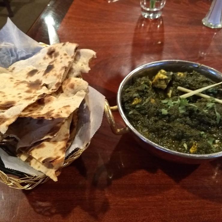 Vegan user review of Gorkha Kitchen in San Francisco. Tofu saag.