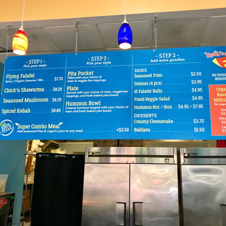 Vegan user review of The Flying Falafel - Berkeley in Berkeley.