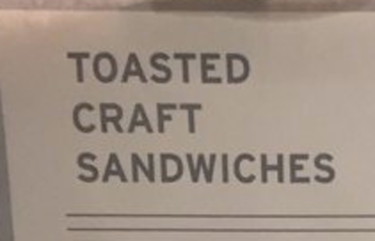 Vegan user review of Toasted, Craft Sandwiches in San Jose.