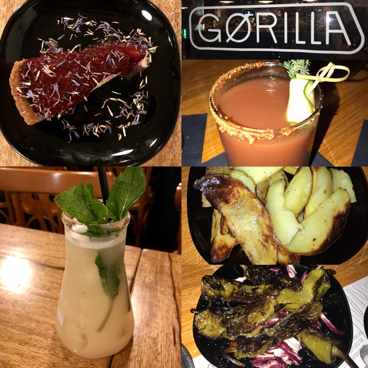 Vegan user review of Gørilla in Torino. Amazing vegan bar in Turin with awesome drinks 👏 🍹 🍸 🍷 🌱 and vegan food 🥘 🌱