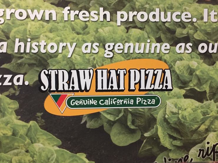 Vegan user review of Straw Hat Pizza in Brentwood.