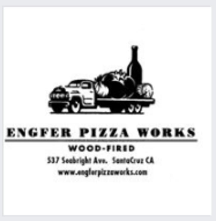 Vegan user review of Engfer Pizza Works in Santa Cruz.