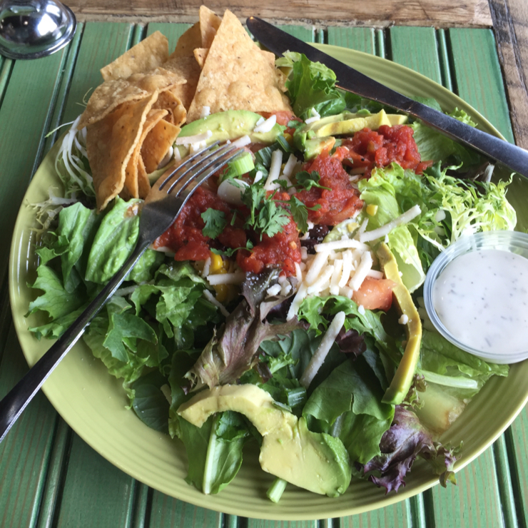 Vegan user review of Seeds and Greens Natural Market and Deli in New Albany. Vegan taco