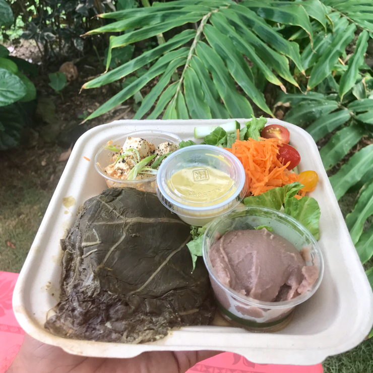 Vegan user review of Ai Love Nalo in Waimanalo. Vegan Hawaiian food. Lu'au with poke. There's garden seating outside. Enjoy your meal amongst the coconut groves. 😊  🌱