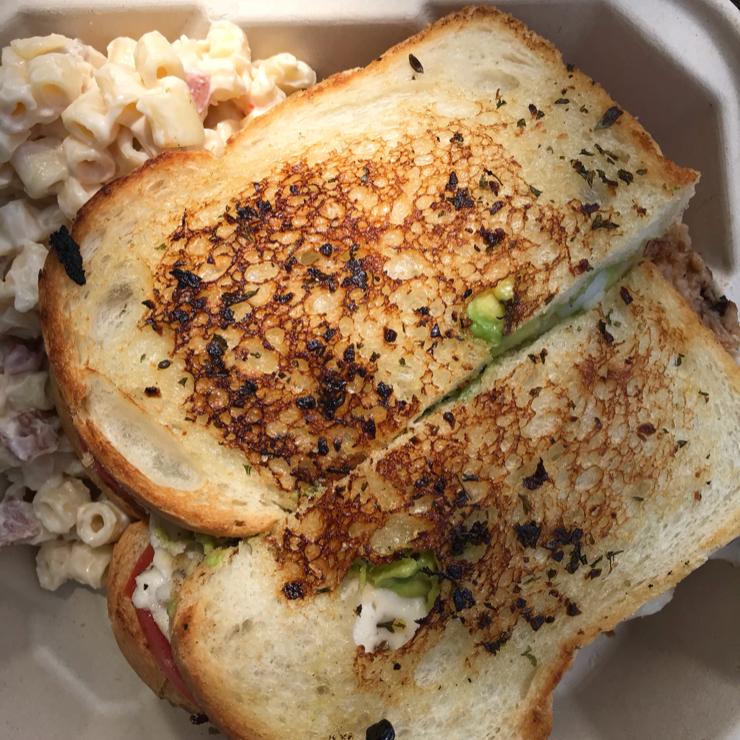 Vegan user review of The Butcher's Son in Berkeley. Killer BLAT sandwich with macaroni and cheese. All vegan 🌱 of course.