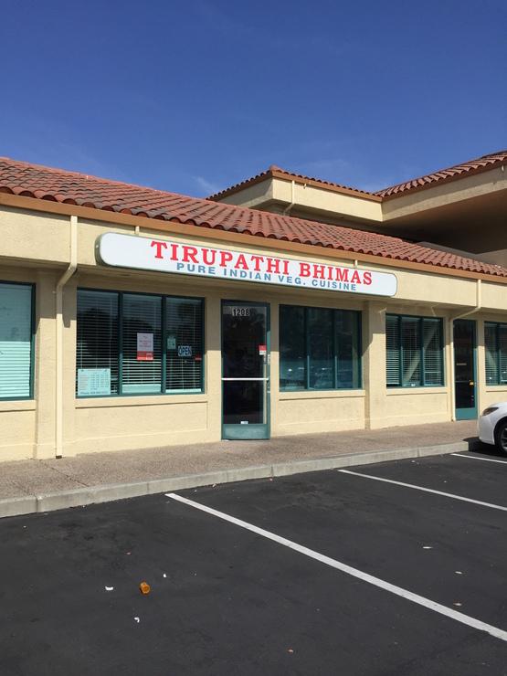 Vegan user review of Tirupathi Bhimas in Milpitas.