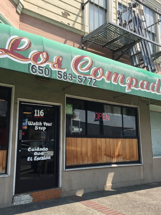 Vegan user review of Los Compadres Taqueria in South San Francisco.