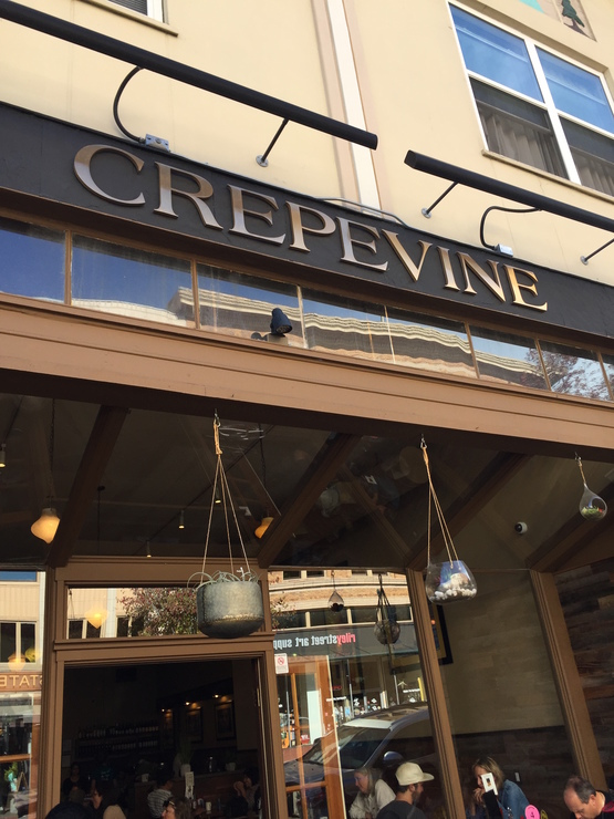 Vegan user review of Crepevine Restaurant in San Rafael.