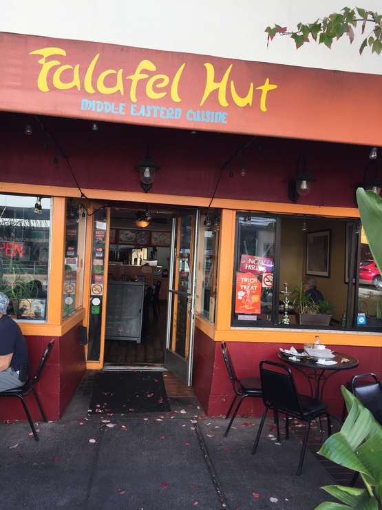Vegan user review of Falafel Hut in San Rafael.