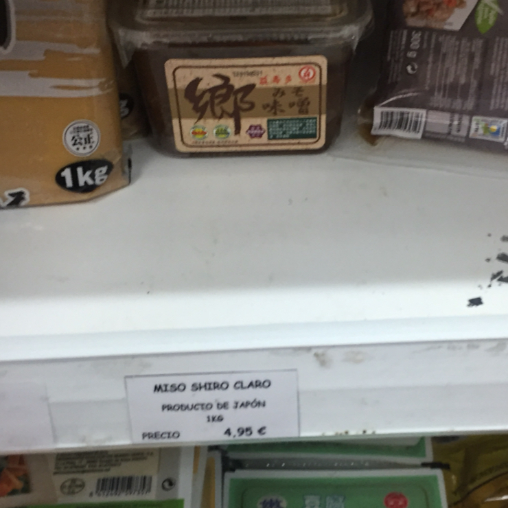 Vegan user review of Nan-Yea Alimentacion in Madrid. Plant based yogurt tofu, soymilk, miso paste