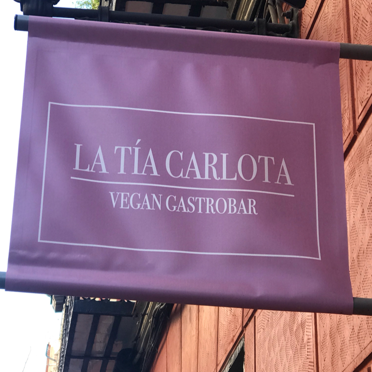 Vegan user review of La Tía Carlota in Madrid.
