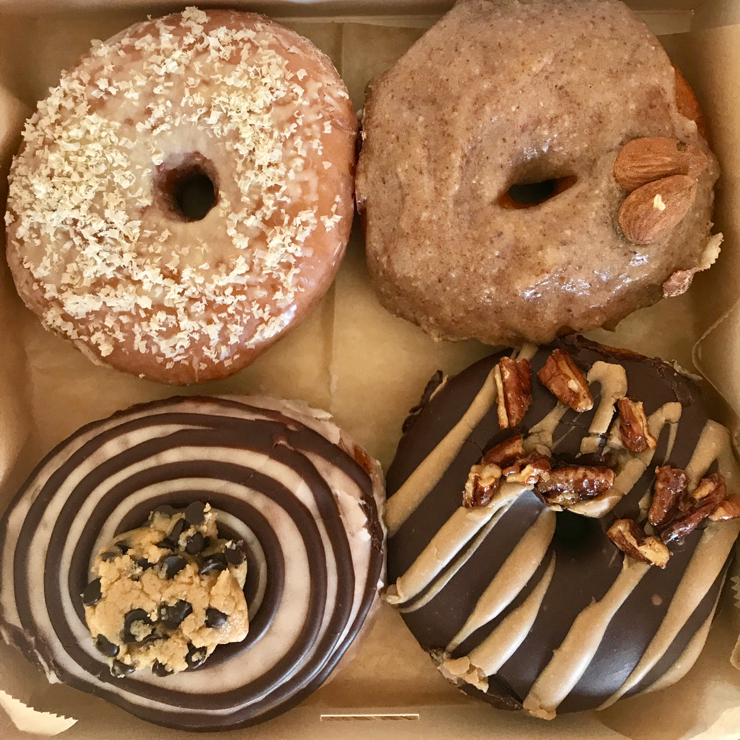 Vegan user review of Bite Me Café in Madrid. This is one of the best donuts I've ever had. Everything is fresh and hand made. The owners are very creative with the filling a toppings. Also very friendly. A must visit place when in Madrid. 🍩 😋 👩‍🎤 👩‍🎨