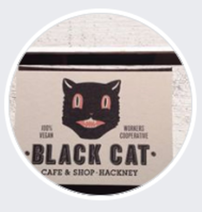 Vegan user review of Black Cat cafe in London.