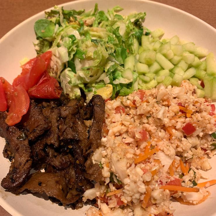 Vegan user review of Veggie Grill in San Jose. Spring Menu, Bulgogi Cauliflower Rice and Plaintain Pea Guacamole!