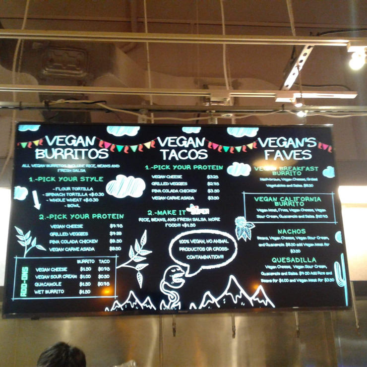 Vegan user review of Gordito amigos Taqueria in Berkeley. They have a separate vegan station with 3 choices of beans, rice, cheese, sour cream and Gardein chicken and carne asada.