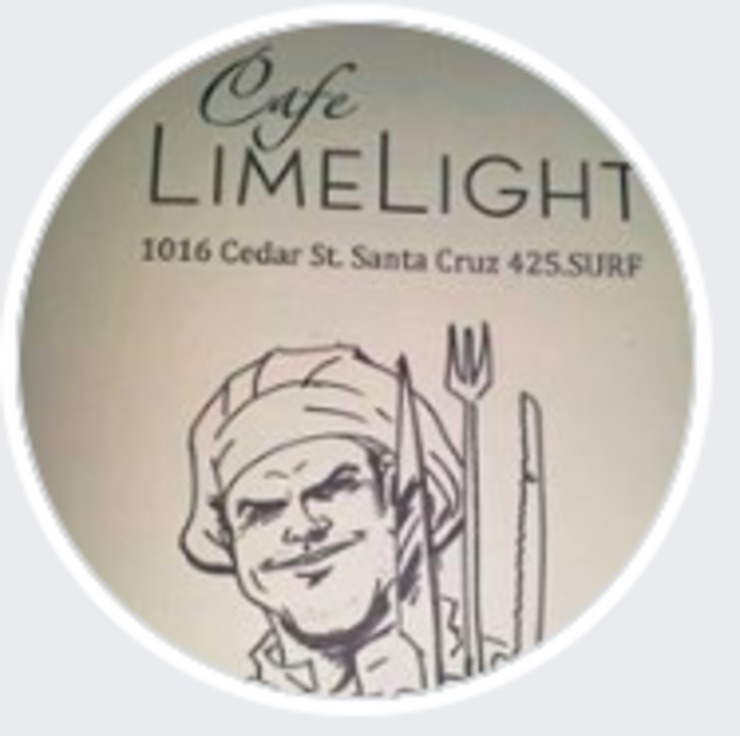 Vegan user review of Café Limelight in Santa Cruz.