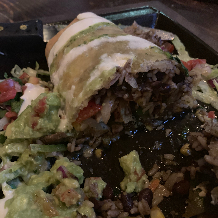 Vegan user review of Nacho Daddy in Las Vegas. Nacho Daddy had great vegan options and the 'chickin' chimichanga was incredibly delicious.