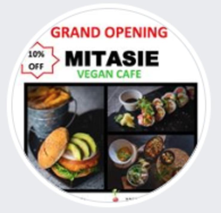 Vegan user review of Mitasie Vegan Cafe in Lake Forest.