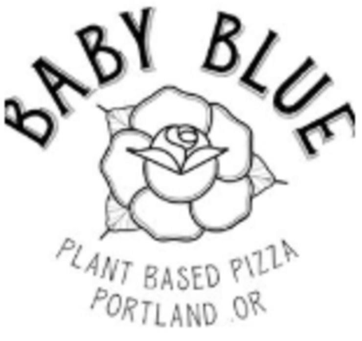 Vegan user review of Baby Blue Pizza in Portland.