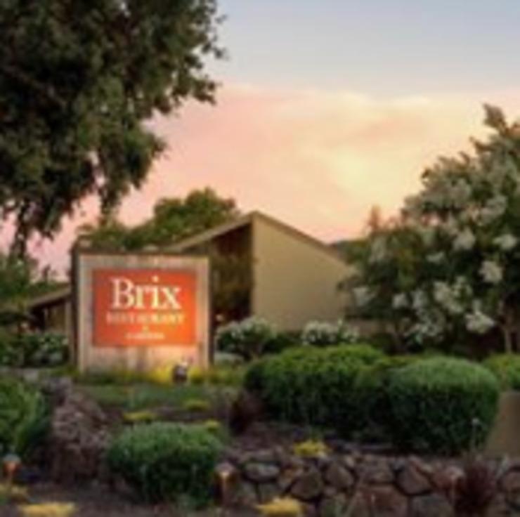 Vegan user review of Brix Restaurant in Napa.