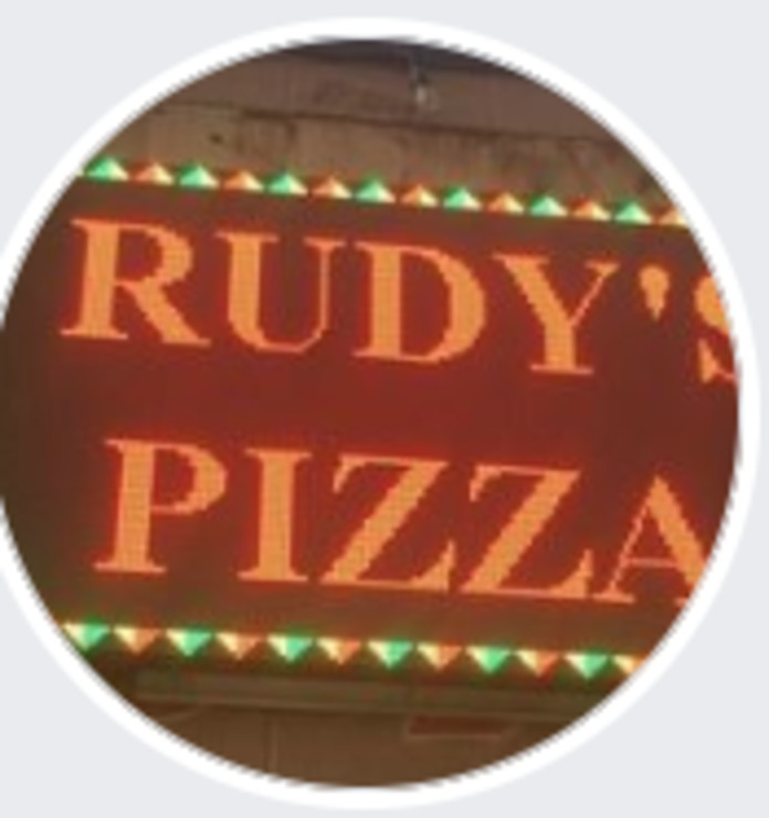 Vegan user review of Rudy's Gourmet Pizza in Portland.