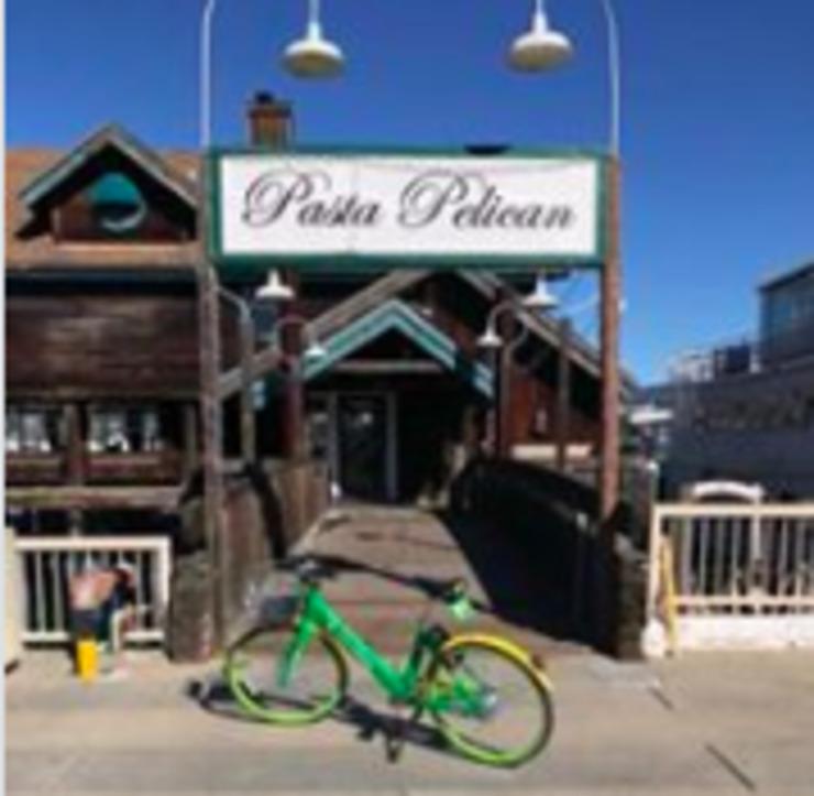 Vegan user review of Pasta Pelican Restaurant in Alameda.