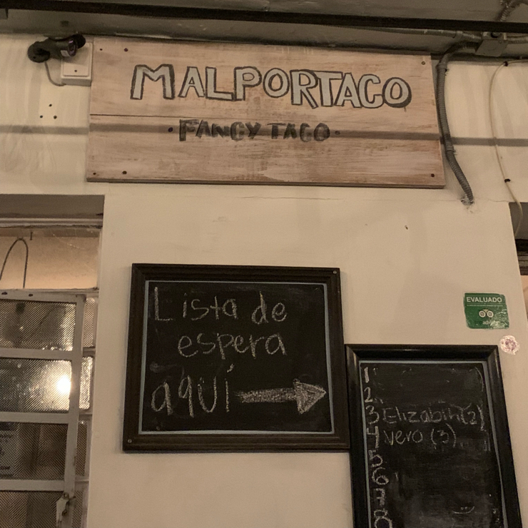 Vegan user review of Malportaco in Ciudad de México. Enjoying mezcal.