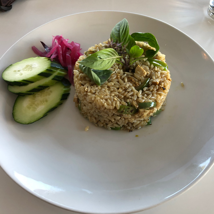 Vegan user review of Satdha in Santa Monica. 100% vegan. Quantity is mediocre.