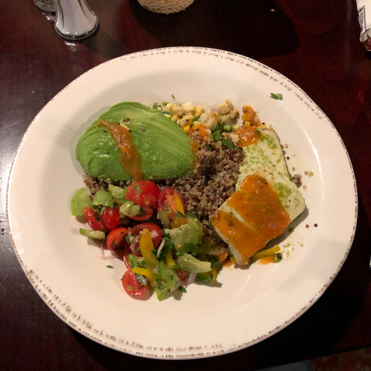 Vegan user review of Pedro's in Santa Clara. One item oN menu clearly marked vegan. It is quinoa bowl with tofu, avocado and vegetables. Beans are vegan.
