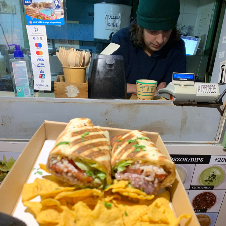 Vegan user review of Vexicana in Budapest. Amazing vegan burrito at Vexicana, a vegan food truck in Budapest