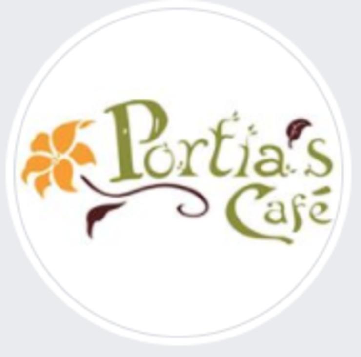 Vegan user review of Portia's Cafe in Columbus.